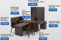 Интерьер Контекс. Офисная мебель. Кресла, стулья, сейфы. Стеллажи. Кабинет руководителя, Мебель для офиса